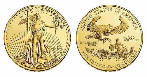 monete d'oro american eagles