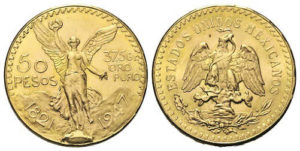 monete d'oro 50 pesos messicani